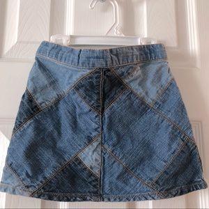 Hartstrings Denim 100 percent cotton skirt sz 4